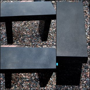 granite stool - black