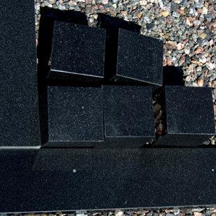 Plāksnes laukumam - Melnās granīta (1,51 x 12 x 2,5)