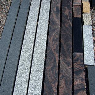 гранитный бордюрный площадь - разные оттенки