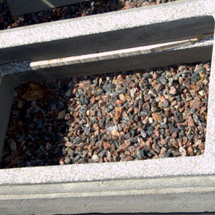 ребенка цементный бордюр - серый