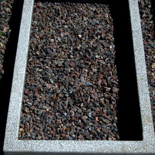 цементный бордюр - серый